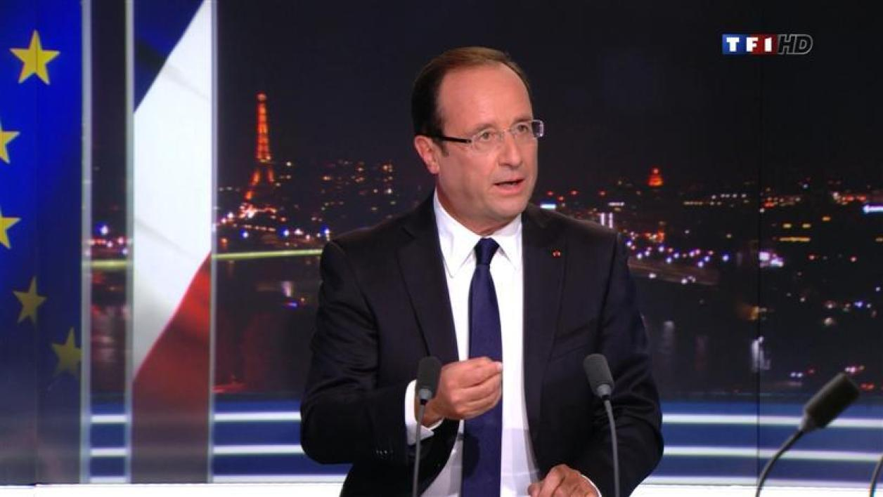 François Hollande sur TF1, le 9 septembre 2012