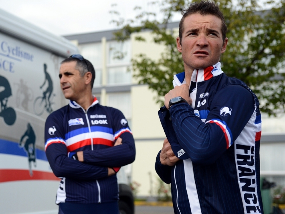Thomas Voeckler, ici avec Laurent Jalabert