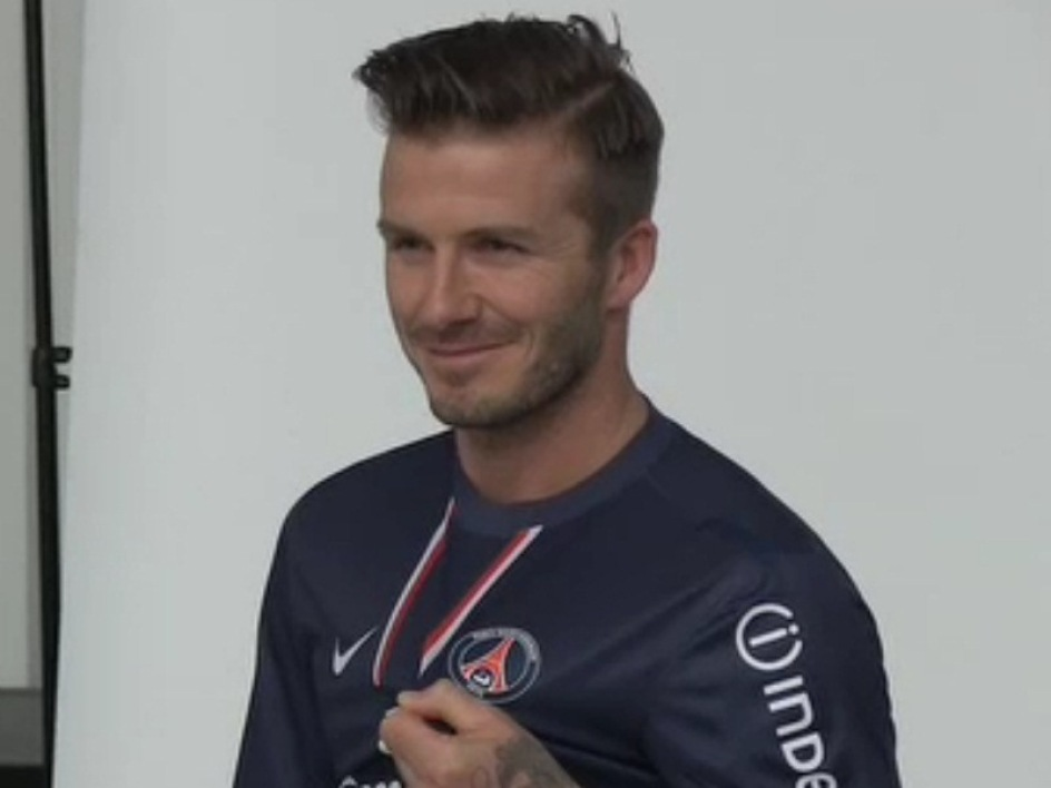 David Beckham and his new shirt (VIDEO)