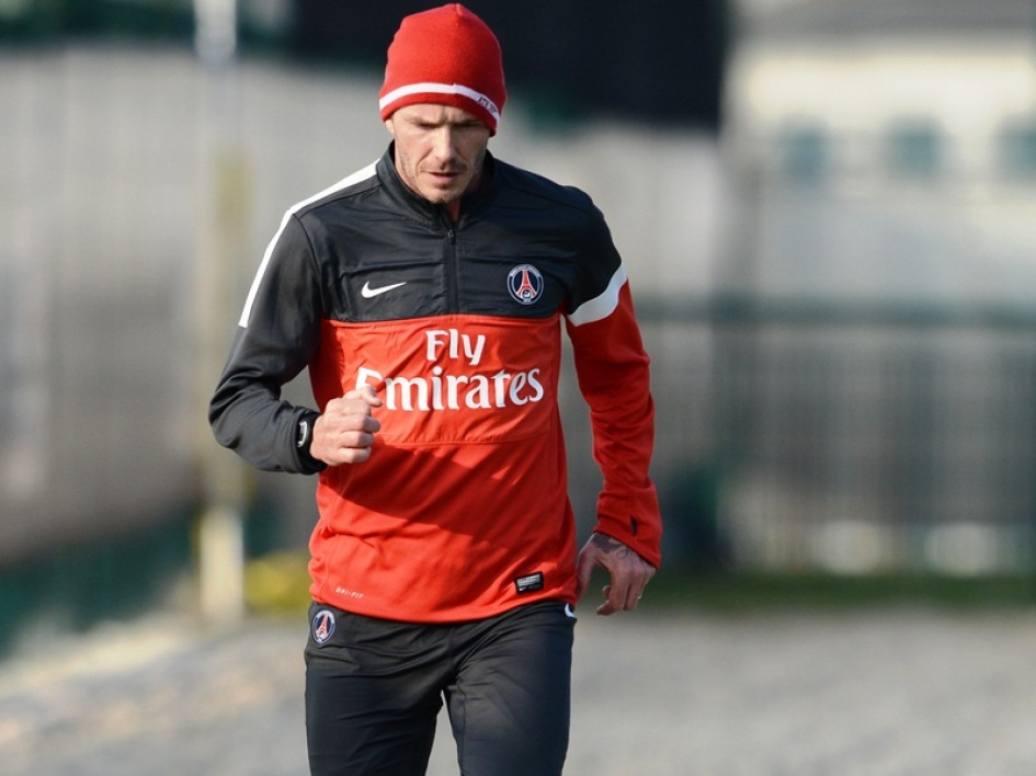 Beckham on the way to Clairefontaine