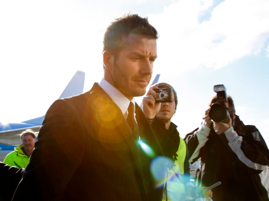 Beckham family off to London
