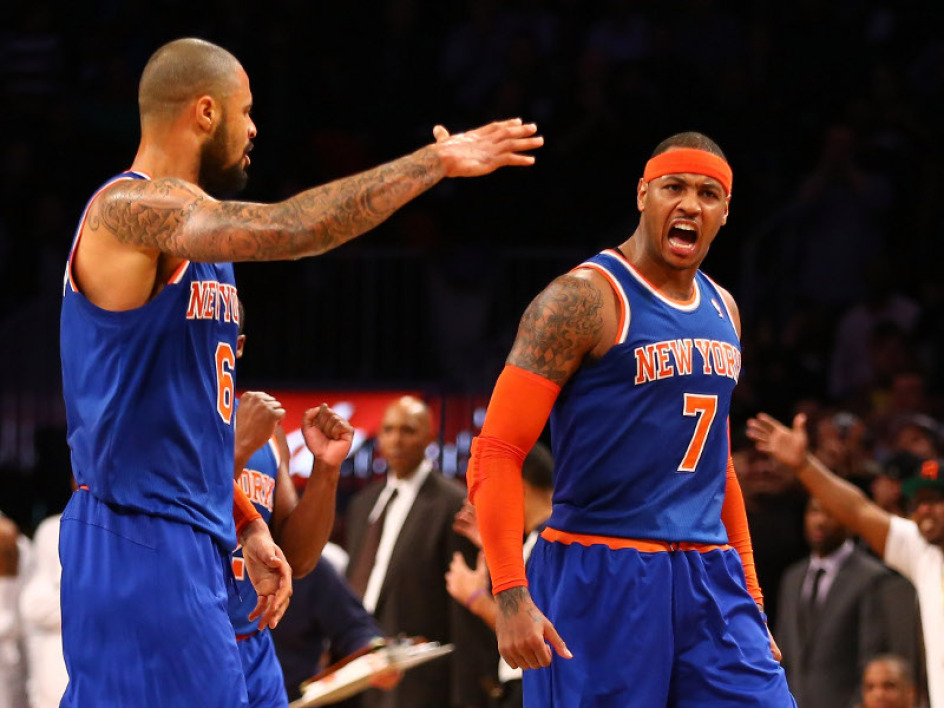 Tyson Chandler et Carmelo Anthony