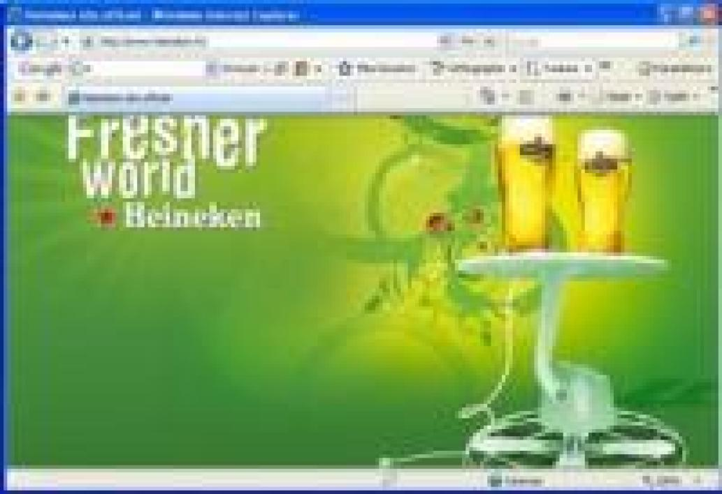 Le site web de Heineken France, avant l'interdiction par le TGI de Paris d'y faire de la pub pour l'alcool.