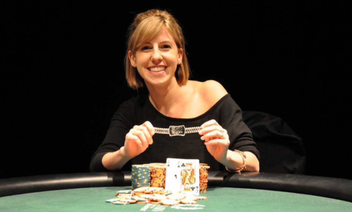 "WSOP 2013, Julie Monsacré 3ème du ""Ladies""."