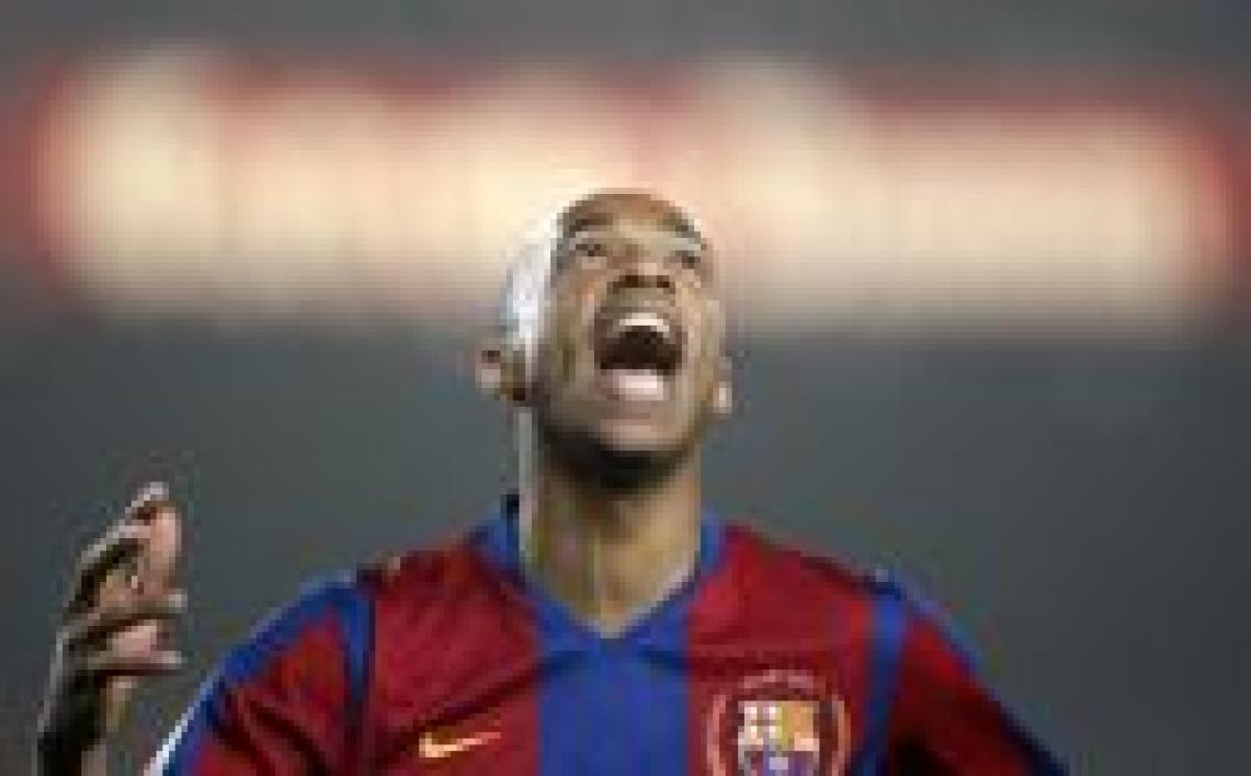 Thierry Henry, attaquant du FC Barcelone