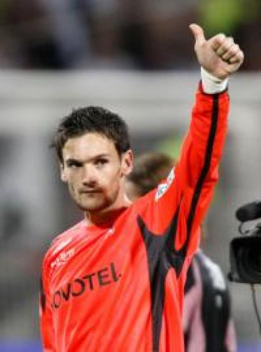 Hugo Lloris, gardien de but de Lyon