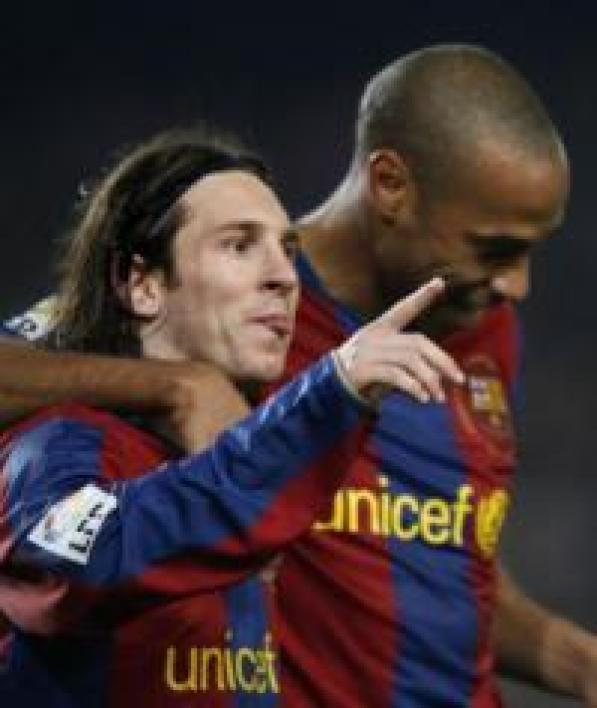 Lionel Messi et Thierry Henry