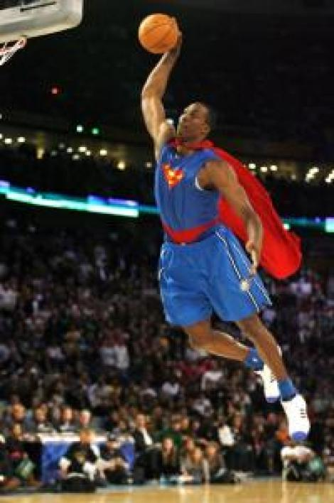 "Dwight Howard, pivot d'Orlando, dit ""Superman"""