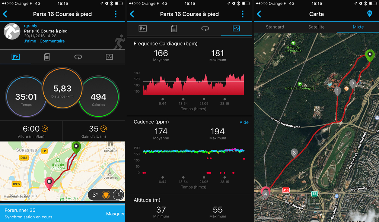 L'application Garmin Connect