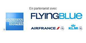 Partenaires American Express, Flying blue, AIRFRANCE et KLM
