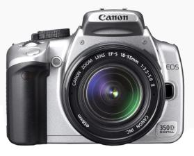 Canon EOS 350D + zoom EF-S 18-55 mm