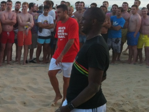 EN IMAGES : Un foot entre légendes à Ipanema