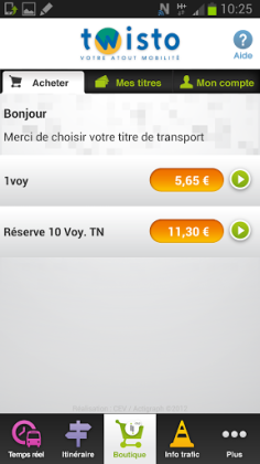 L'application NFC Twisto est téléchargeable sur Google Play