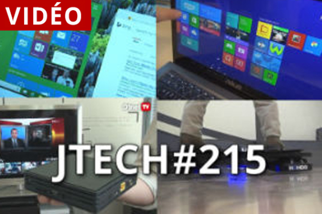 JTech 215 : Windows 10, Box Miami, ultrabook, hoverboard (vidéo)