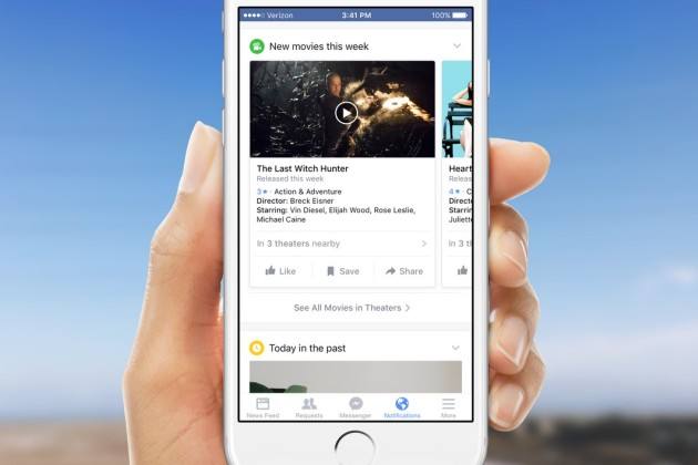 Facebook, appli mobile, notifications