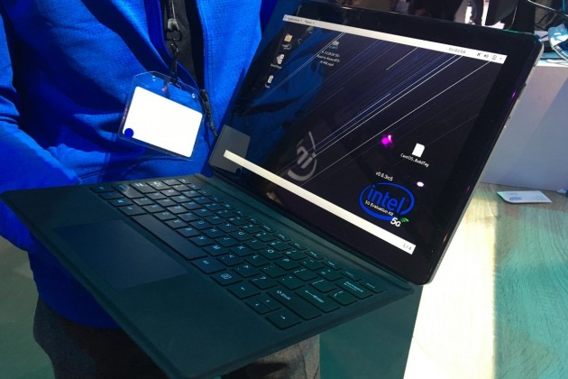 Le concept de PC portable 5G d'Intel.