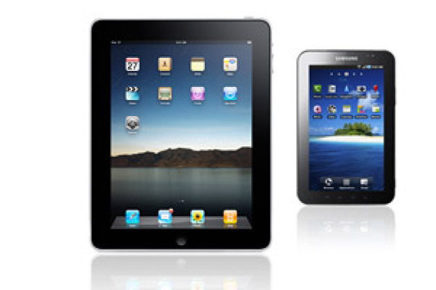 iPad contre Galaxy Tab.