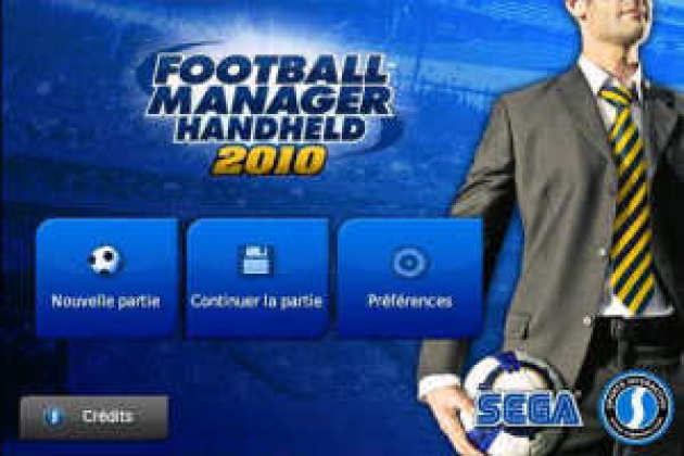 Football Manager Handheld 2010 pour iPhone, de Sega