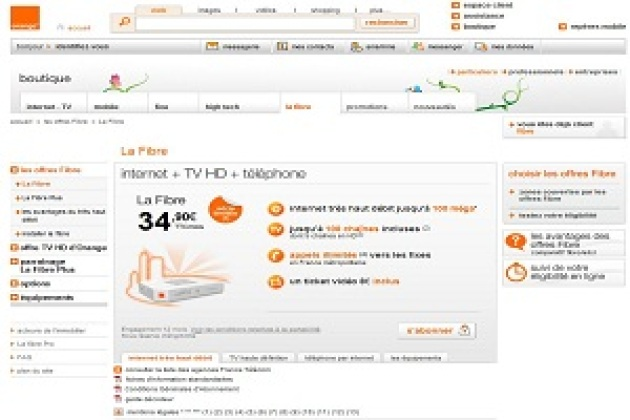 Orange lance deux forfaits fibre optique