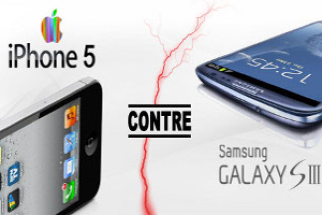 Apple iPhone 5 contre Samsung Galaxy SIII