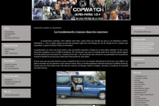 Plaintes contre Copwatch, le site qui surveille la police [MAJ]