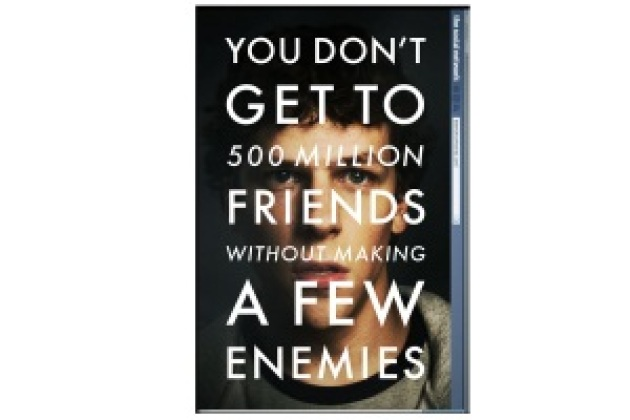 The Social Network, le film sur Facebook, a son affiche