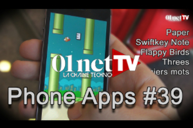 Phone Apps #39 : Paper, Flappy Birds, Swiftkey Note