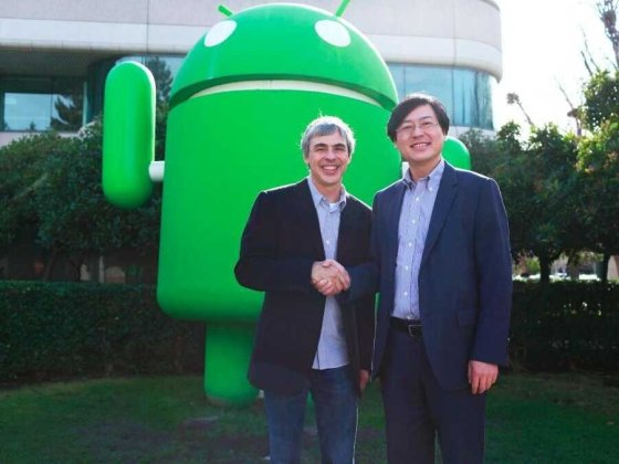 Larry Page et Yang Yuanqing