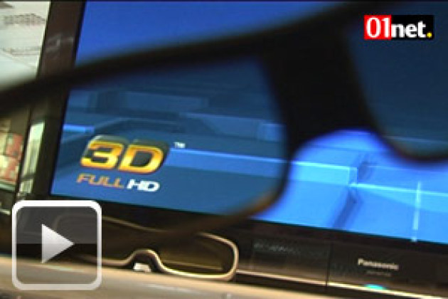 Coulisses du 01Lab : TV 3D plasma Panasonic
