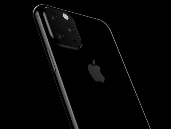 Un rendu supposé du triple module caméra de l'iPhone 2019.