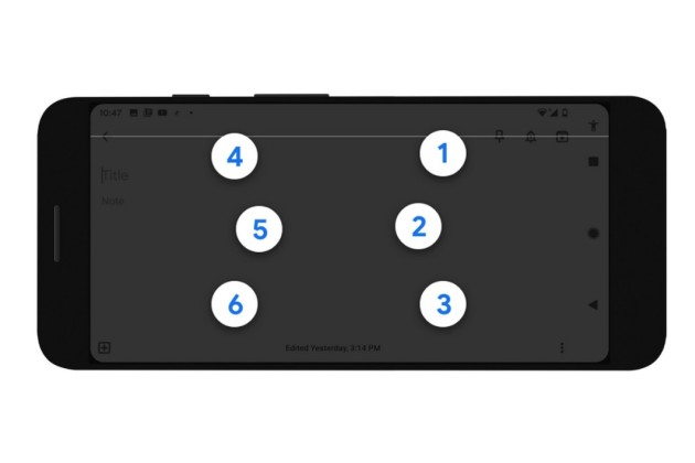 Le clavier braille d'Android