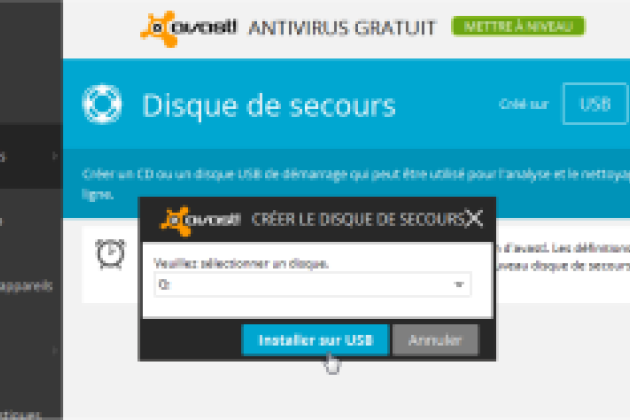 outil desinfectant avast