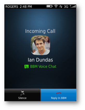BlackBerry Messenger passe au vocal