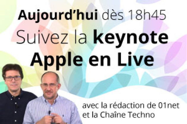 Live Keynote Apple 22 octobre