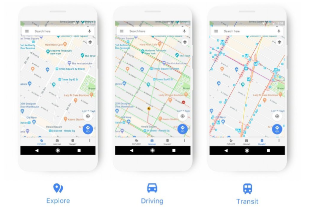 La nouvelle interface de Maps.