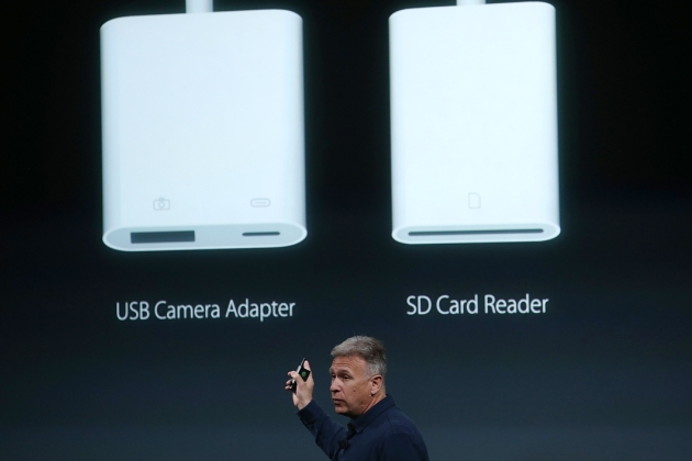 Apple senior vice president of worldwide marketing Phil Schiller announces accessories for the new 9.7