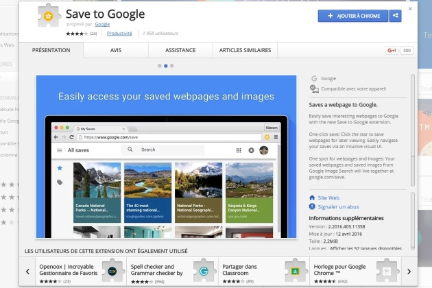 Google lance l'extension