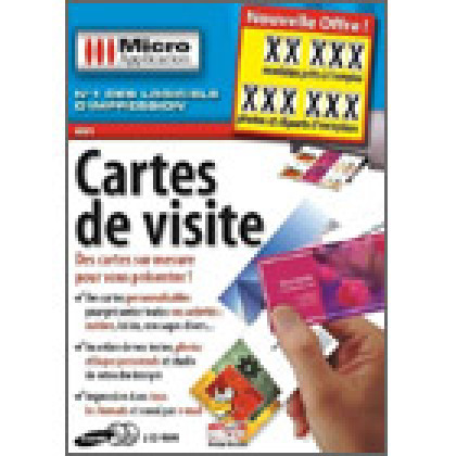 Cartes de visite, de Micro Application