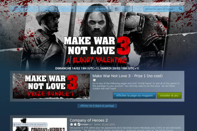 Steam Sega Make War not Love 3