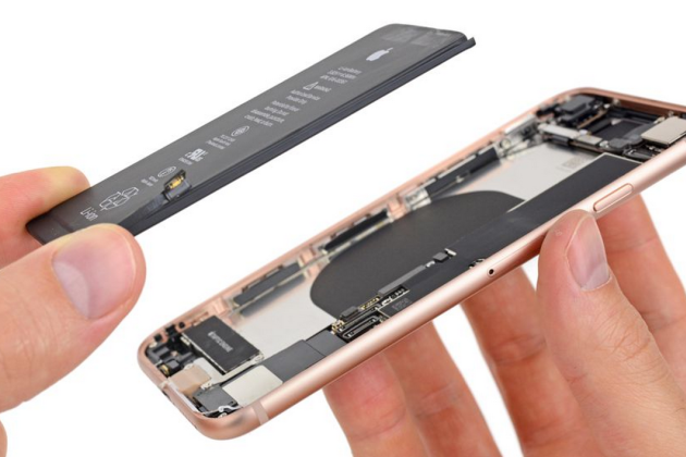 La batterie d'un iPhone 8