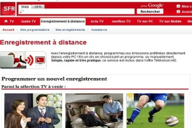 SFR lance son service d'enregistrement TV à distance (MAJ)