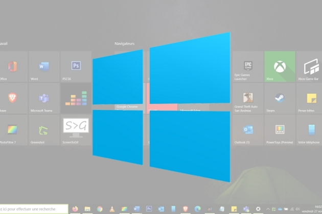 Windows 10 : comment afficher le menu Démarrer en plein écran
