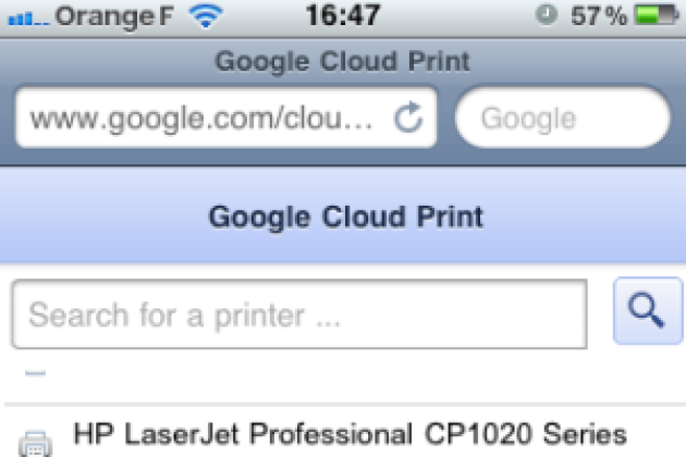 Google Cloud Print : le test