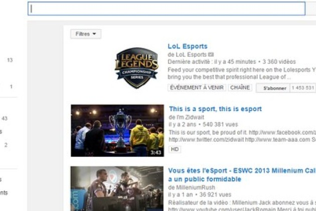 YouTube retransmet déjà les compétitions de la League of Legends.