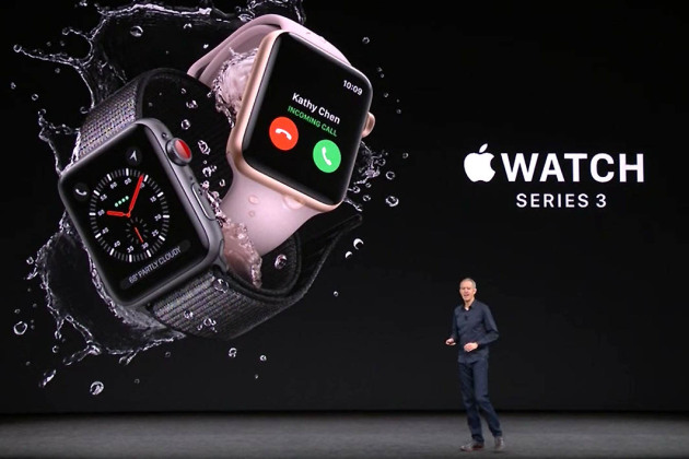 Keynote Apple : avec la 4G, la Watch Series 3 s'affranchit de l'iPhone