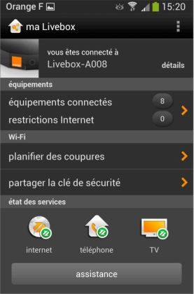 Orange enrichit son appli mobile de pilotage de la Livebox