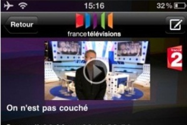 France Télévisions : nouvelle appli iOS avec direct et catch-up TV