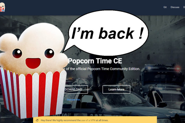 Popcorn Time Community Edition : le retour du Netflix pirate