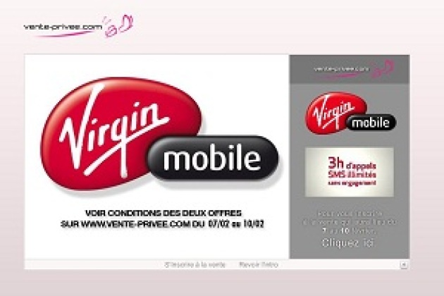 Virgin Mobile brade deux forfaits sur Vente-privee