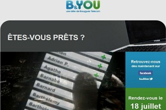 B&You : Bouygues Telecom lance sa marque low-cost